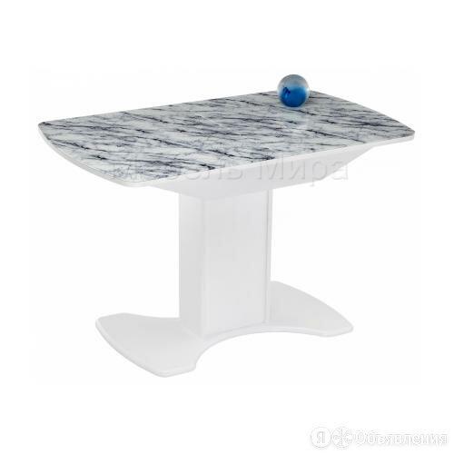 Стол стеклянный Ригель белый мрамор / белый 368656 по цене 14700₽ - Столы и столики, фото 0