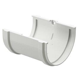 Кровля и водосток - Соединитель желобов водостока Дёке Premium RAL9003 Белый Пломбир, 0
