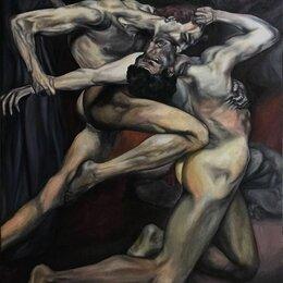"""Картины, постеры, гобелены, панно - Фрагмент картины Адольфа вильяма бугро """"данте и вергилий в аду"""", 0"""