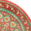 Ляган круглый Риштанская Керамика, 41см, кара калам, красный, микс по цене 2227₽ - Посуда, фото 5