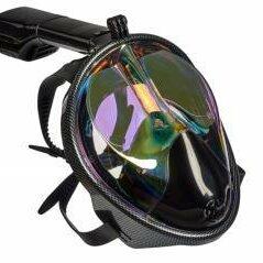 Маски и трубки - Полнолицевая маска для снорклинга, затемненная с принтом, L-XL, 0