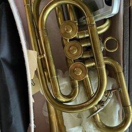 Прочие духовые инструменты - Корнет духовой музыкальный инструмент, 0
