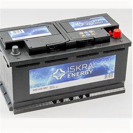 Аккумуляторы и комплектующие - Аккумулятор ISKRA Energy 100 Ач 830А обратная полярность, 0