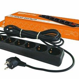 Источники бесперебойного питания, сетевые фильтры - Сетевой фильтр СФ-06В 6гн. 5м с/з выкл ПВС 3*1,0 16А TDM, 0