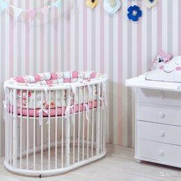 Кроватки - Овальная детская кроватка - трансформер, 0