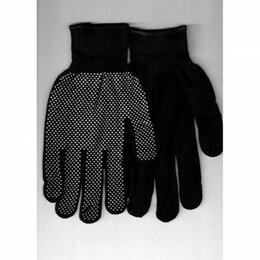 Средства индивидуальной защиты - Перчатки нейлоновые с ПВХ черные, 0