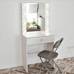 Столы и столики - Гримёрный стол и гримёрное зеркало с подсветкой, 0