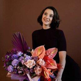 Цветы, букеты, композиции - Композиция в коробке «Праздничный салют» - L (60см), 0