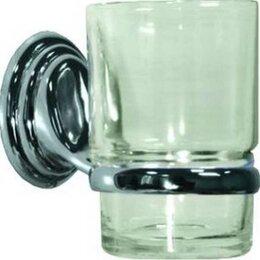 Мыльницы, стаканы и дозаторы - Аквалиния Стакан для зубных щёток настенный 1-ый Аквалиния 6884 Эко, 0