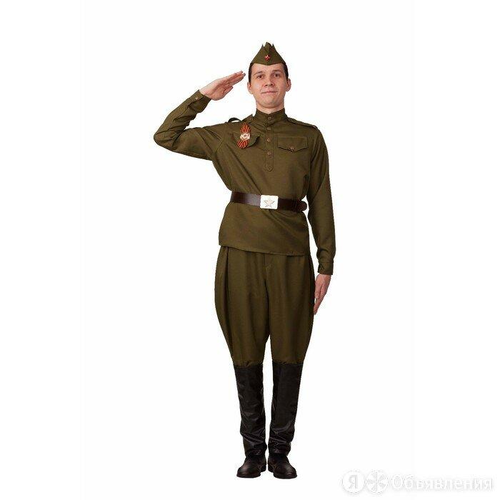 Карнавальный костюм 'Солдат галифе', гимнастерка, брюки, ремень, пилотка, р.42 по цене 4070₽ - Карнавальные и театральные костюмы, фото 0