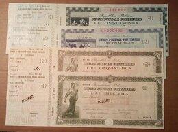 Документы - Почтовые сертификаты с купонами (чеками).Италия…, 0