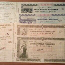 Документы - Почтовые сертификаты с купонами (чеками).Италия 1924 г, 0