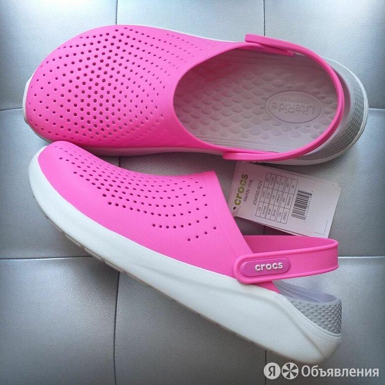Crocs LiteRide Electric Pink, 37, 38 по цене 2800₽ - Шлепанцы, фото 0