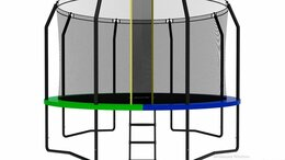 Каркасные батуты - Каркасный батут SWOLLEN Prime Black 12 FT 3,6…, 0