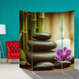 """Ширмы - Ширма """"Орхидея. Камни"""", 160 × 160 см, 0"""