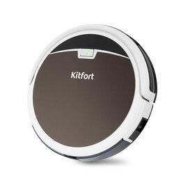 Роботы-пылесосы - Робот-пылесос KITFORT KT-519-4, коричневый , 0