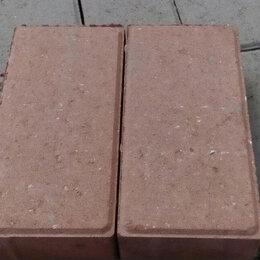 """Тротуарная плитка, бордюр - Брусчатка """"Кирпич"""" цвет Шоколад, 0"""