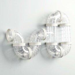 Игрушки и декор  - Лабиринт для грызунов 6, 10 элементов, прозрачный, 0