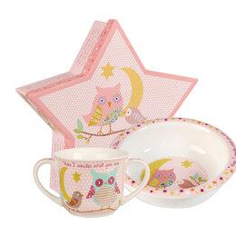 Игрушечная еда и посуда - Набор детской посуды Churchill Звезда (чашка, миска), 2 предмета, розовый, фа..., 0