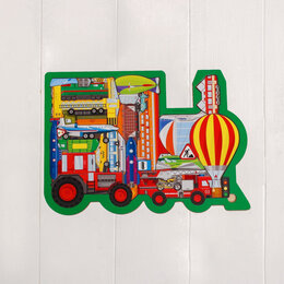 """Развивающие игрушки - Головоломка """"Все виды транспорта"""", 0"""