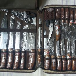 Наборы ножей - Набор ножей в чемодане 25 предметов миллерхаус, 0