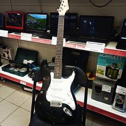 Электрогитары и бас-гитары - Электрогитара Fabio Stratocaster ST100BK, 0