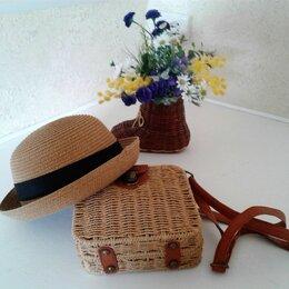 Сумки - Сумочка из ротанга + шляпка, 0