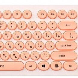 Клавиатуры - Клавиатура Oklick 400MR белый/розовый, 0