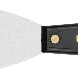 Лабораторное и испытательное оборудование - Шпатель для удаления ржавчины профи, толщ. лезвия 1 мм, пластик.ручка с метал.б, 0