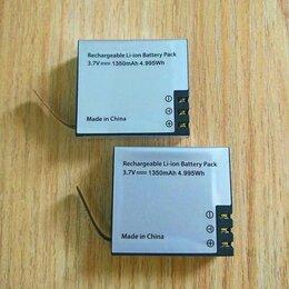 Аккумуляторы и зарядные устройства - 2 аккумулятора 1350 mAh Li-ion экшн камера sjcam eken, 0