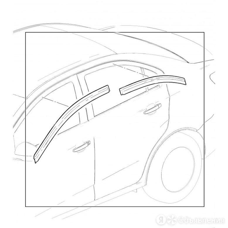Дефлектор окон (накладной скотч 3М) 4 шт. Skoda Octavia III 2013- лифтбэк по цене 2000₽ - Кузовные запчасти, фото 0