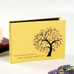 Фотоальбомы - Фотоальбом 25 листов(уголки+кольца) 'Тисовое дерево' 27х19 см, 0