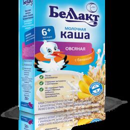 Детское питание - БЕЛЛАКТ Каша Овсяная с Бананом с Молоком с Витаминами и Минералами {с 6 мес} ..., 0