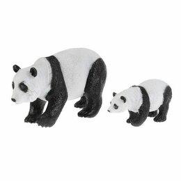 Развивающие игрушки - Игрушка пластизоль Животные Мамы и малыши (панда и детеныш) в пак. Играем вместе, 0
