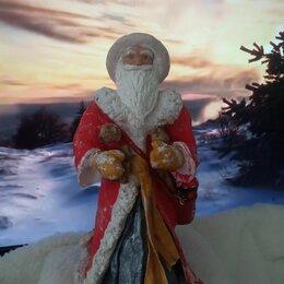 Новогодние фигурки и сувениры - Дед мороз ручной работы изготовлен по старинным технологиям вата и клейстер., 0