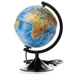 Глобусы - Глoбус физико-политический рельефный 'Классик', диаметр 210 мм, с подсветкой, 0