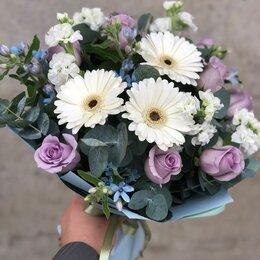 Цветы, букеты, композиции - Букет из гербер и розы, 0