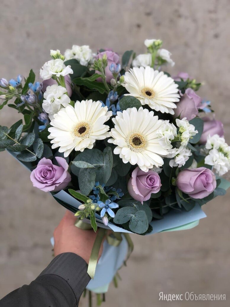Букет из гербер и розы по цене 1600₽ - Цветы, букеты, композиции, фото 0