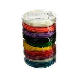 Расходные материалы для 3D печати - Пластик LuazON ABS-10, для 3Д ручки, 10 цветов по 10 метров, 4 трафарета, 0