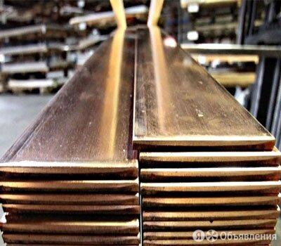 Полоса бронзовая 12х55 мм БрАМц9-2 ГОСТ 1595-90 по цене 713₽ - Металлопрокат, фото 0