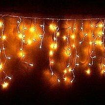 Новогодний декор и аксессуары - Гирлянда-бахрома уличная RB-OIC100LSE-Y-T-14 Сосульки 100LED желт 2м (23/55/3..., 0