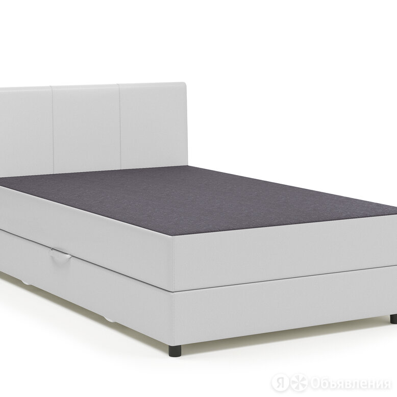 Тахта Классика 90 серая рогожка и белая экокожа по цене 13990₽ - Кровати, фото 0