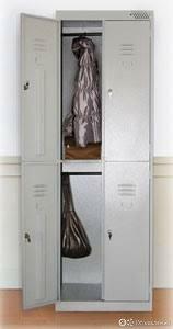 Шкаф для одежды металлический на 4 двери  по цене 16432₽ - Мебель для учреждений, фото 0