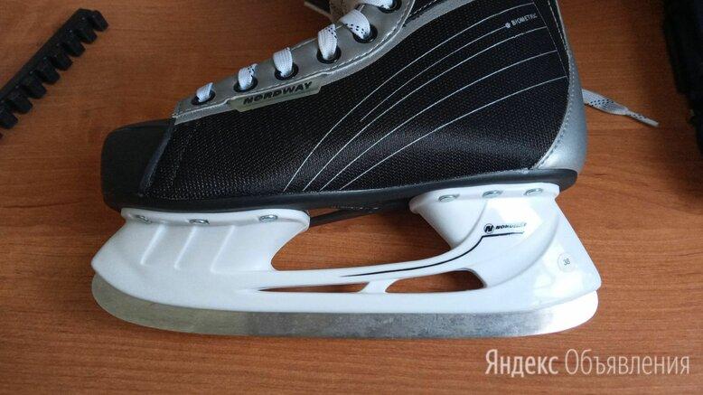 Коньки nordway мужские бело-черные новые ,коньки   стоимость  по цене 1500₽ - Коньки, фото 0