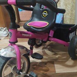 Трехколесные велосипеды - Детский велосипед 1-4 года с ручкой трёхколёсный, 0