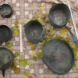 Посуда - комплект медной посуды, 6 предметов, царская Россия, 0