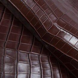 Рукоделие, поделки и сопутствующие товары - Целая шкура крокодила цвет красное дерево насыщенный, 0