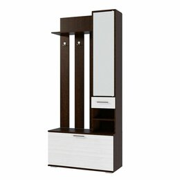 Шкафы, стенки, гарнитуры - Прихожая эра ника вз910 венге/лоредо вешалка с зеркалом, 0