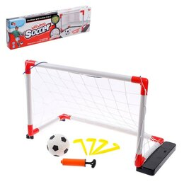 Аксессуары и принадлежности - Ворота футбольные 'Попробуй попади', двигаются в стороны, 2 скорости, работаю..., 0