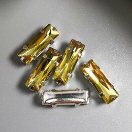 Товары для гадания и предсказания - Астра Хрустальные стразы в цапах (серебро)желтый 5х15 мм, 5 шт/упак, жёлтый, 0